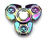 Full Metal Neo Chrome Trinity Toy Fidget Spinner, Great for Anxiety, Focusing, ADHD, Autism, Quitting Bad Habits, Staying Awake