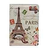 Paris England USA Printed Passport Cover Holder Organizer Travel Wallet (Paris)