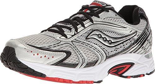 Saucony Men's Grid Phantom Silver/Black/Red Athletic Shoe