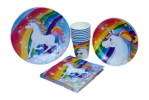 Unicorn Paper Plates, Napkins, & Cups Birthday Party Supply Pack