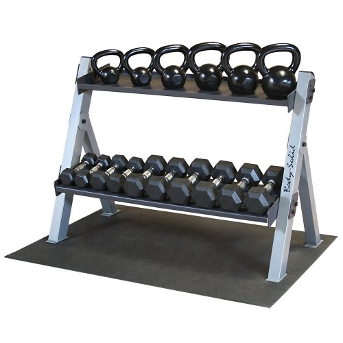Body Solid GDKPACK Kettlebell Rack with Weights by Body-Solid