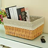 storage basket/ rattan storage box/Desktop snack debris basket in the kitchen-I 27x17cm(11x7inch)