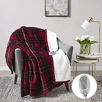 MP2 Heated Electric Sherpa Throw Blanket with 3 Heat Settings and 2 - Hour Auto Shut Off 50