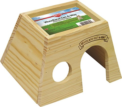 Kaytee Woodland Get-A-Way Medium Hamster House (Hut Hamster Wood)