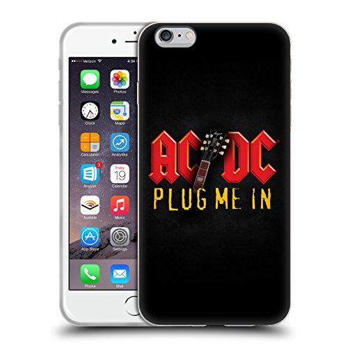Officiel AC/DC ACDC Branchez-Moi Titres De Chanson Étui Coque en Gel molle pour Apple iPhone 6 Plus / 6s Plus