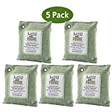 Automotive : Moso Natural Air Purifying Bag. Odor Eliminator for Cars, Closets, Bathrooms and Pet Areas. Captures and Eliminates Odors. (Green, 5 Pack)