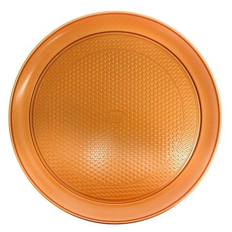 Gothamスチールti-cerama Nonstick 14インチ銅ピザパン オレンジ 62129725 B0776T83SG