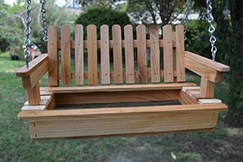 Amazon Com Cedar Porch Swing Bird Feeder Bird Hang Out