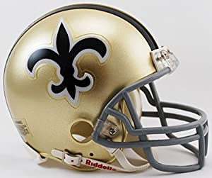 New Orleans Saints 67-75 Riddell VSR4 Mini Replica Football Helmet
