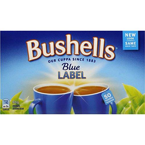 Australian Tea - Australian Bushells Blue Label 50 Tagged Tea Bags