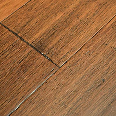 Sample- Copperstone Wide Click Bamboo Geowood Plank Flooring