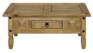 New Corona Pine Wooden Coffee Table With 1 Drawer Living Room Furniture  Side End Table: Amazon.co.uk: Kitchen U0026 Home