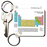 3dRose Pastel Periodic Table Academic School Educational Gift for Science Chemistry Physics Classrooms Key Chains, Set of 2 (kc_76645_1)
