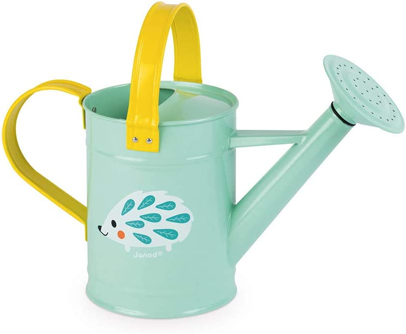 Janod J03191 Happy Garden Watering Can Blue//Yellow