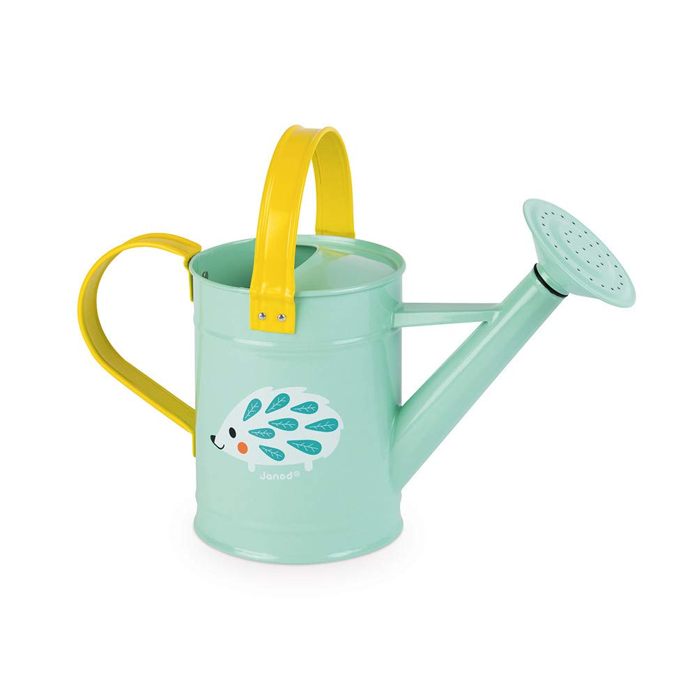 Janod J03191 Happy Garden Watering Can, Blue/Yellow