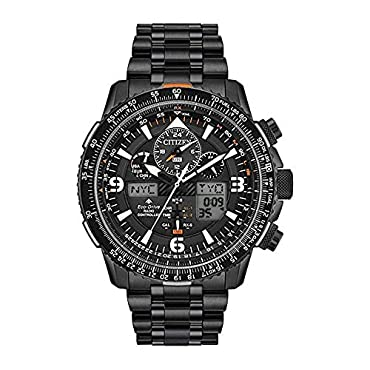 Men's Citizen Eco-Drive Promaster Skyhawk A-T Chronograph Black Bracelet Watch JY8075-51E