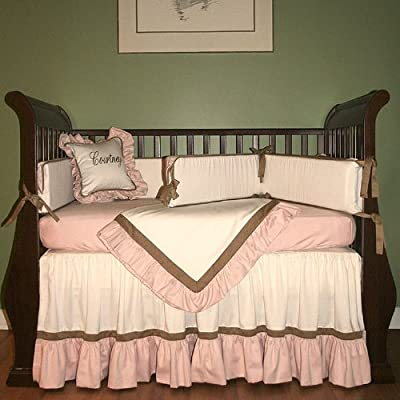 Hoohobbers 4-Piece Crib Bedding, Classic Pink from Hoohobbers