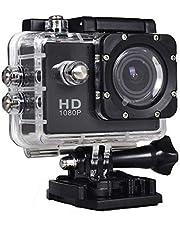 اكشن رياضيه دي في كاميرا - اسود H.264 - كيريوس واي فاي 1080 بيكسل كاميرا عالية الوضوح - 12 ميجا بيكسل - سي ام او إس SJ4000
