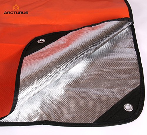 Arcturus All Weather Outdoor Survival Blanket - All Purpose, Thermal, Reflective - 60