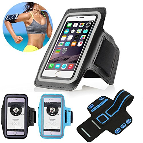 """Price comparison product image NPLE--Jogging Gym Armband Sports Running Arm Band Case Cover Bag For Cell Phone 5.5"""" (Black)"""