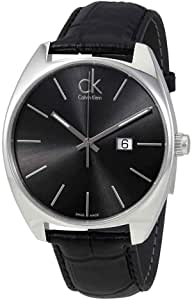 Calvin Klein Exchange Watch for Men - Analog Leather Band - K2F21107