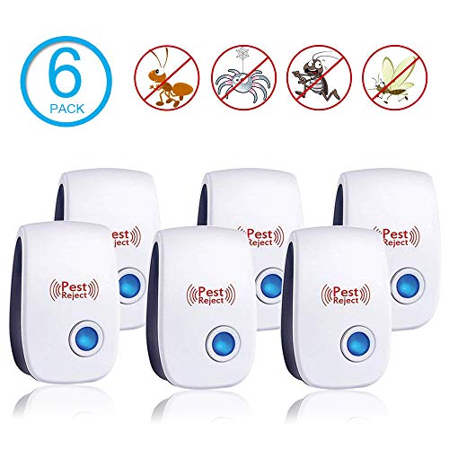 Ultrasonic Pest Repeller Plug in Pest Control - Electric Mouse Repellent Repellent for Mosquito, Mice, Rat, Roach, Spider, Flea, Ant, Fly, Bed Bugs, Cockroach - No Traps Poison & Sprayers -