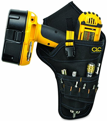 CLC Custom Leathercraft 5023 Deluxe Cordless Poly Drill Holster, Black (Renewed)