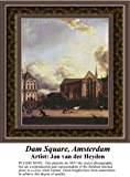 Dam Square, Amsterdam, Fine Art Counted Cross Stitch Pattern (Pattern Only, You Provide the Floss and Fabric)