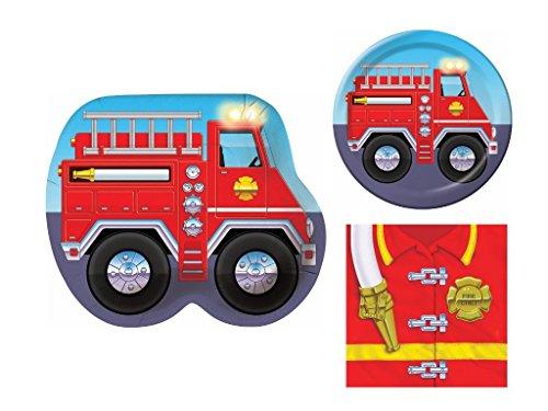 Firefighter Truck Child Birthday Bundle