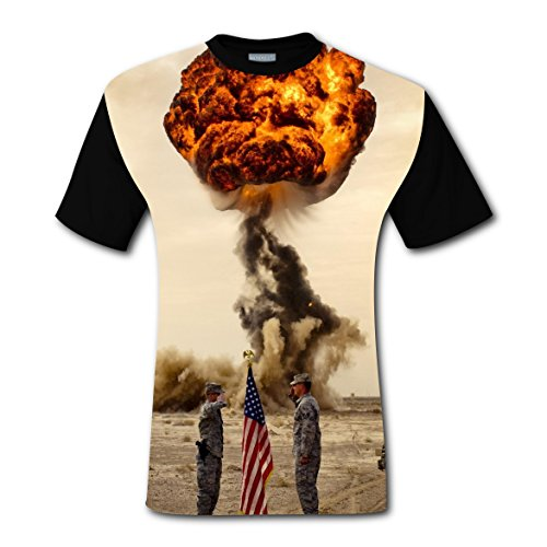 LZQ Tshirt Man Crew Neck New 2018 Style Tee Shirt 3D Making With Explosion For Men 3XL (Halloween Potion Making Games)