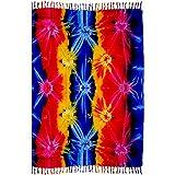 Rayon Sarong Tie Dye Blue Rainbow