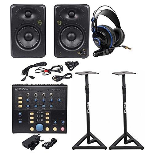 Presonus Monitor Station V2 Control Center+(2) Studio Monitors+Stands+Headphones