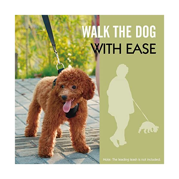 Pawaboo Dog Safety Vest Harness, Pet Dog Adjustable Car Safety Mesh Harness Travel Strap Vest with Car Seat Belt Lead Clip. 7