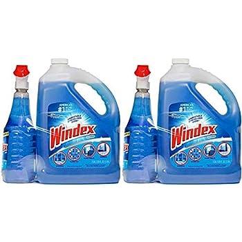 Windex cxs Original Glass Cleaner (128 oz. Refill + 32 oz. Trigger), 2 Pack