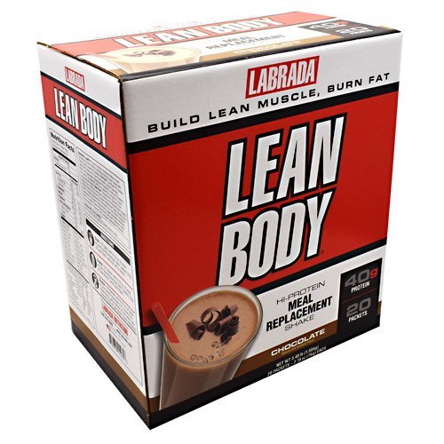 Labrada Lean Body Protein Meal Replacement Shake Chocolate Ice Cream -- 20 Packets