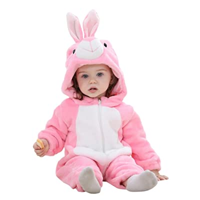 Baby Clothes, Efaster Lovely Infant Girls Pink Rabbit Animal Style Hooded Romper