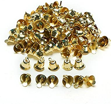 Naler Christmas Jingle Bell 0.5 inch for Christmas Tree Jewelry Craft 120pcs