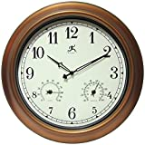 outdoor thermometer wood - Infinity Instruments Wall Clock - The Craftsman