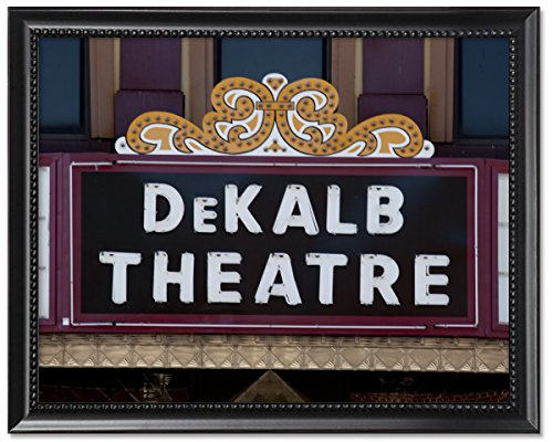 Black Wood Framed Print 8x10: Sign For Dekalb Theater, Fort Payne, Alabama, ()