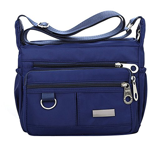 FORUU Bags, 2019 Best Gift For Father Lover Boyfriend Husband Trendy Stylish Unisex Women's Fashion Solid Color Zipper Waterproof Nylon Shoulder Bag Crossbody Bag
