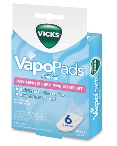 - Vicks Sleepytime Waterless Vaporizer Scent Pads Pack of 6
