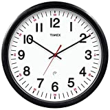 AcuRite Timex 46007T Set and Forget Clock with 5-Year Battery Life, 14-Inch