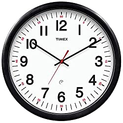 Timex 46007T Set and Forget Clock with 5-Year Battery Life, 14-Inch
