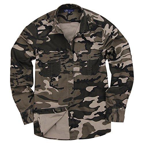 Urban Boundaries Women's Classic Long Sleeve Military Style Shirt (Desert Brown Camo, Small) - Womens Urban Camo