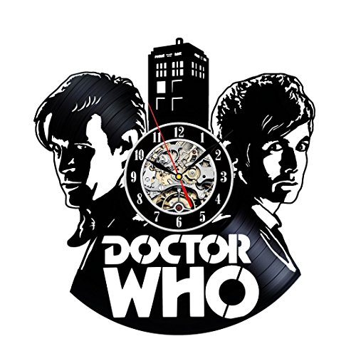 Vinyl Record Clock Doctor Who Wall Decoration Gift