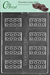 Cybrtrayd Life of the Party K162 Building Construction Blocks Chocolate Candy Mold in Sealed Protective Poly Bag Imprinted with Copyrighted Cybrtrayd Molding Instructions