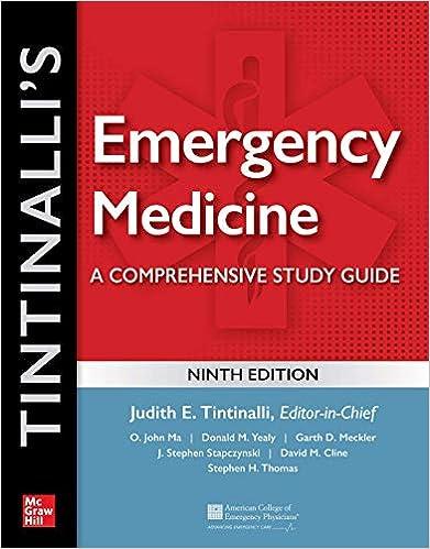 Tintinalli's Emergency Medicine: A Comprehensive Study Guide, 9th edition - Original PDF