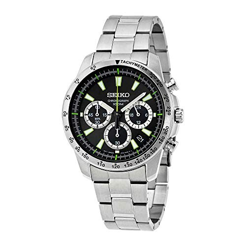 Seiko SSB027 Men's Chronograph Stainless Steel Case Watch