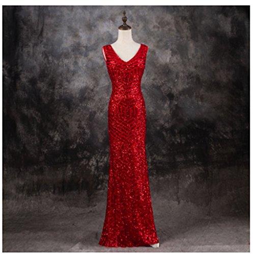 Drasawee Rot Damen Rot Schlauch Kleid 1H6H0wX4qY