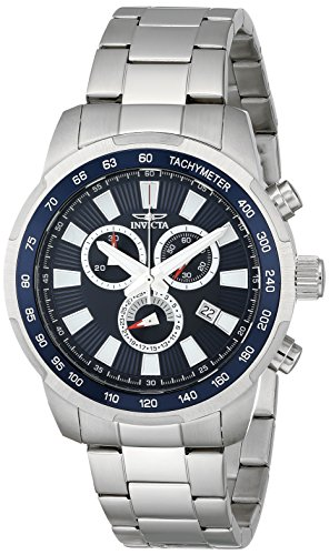 Invicta Men's 1556 Specialty Chronograph Blue Dial Stainless Steel Watch